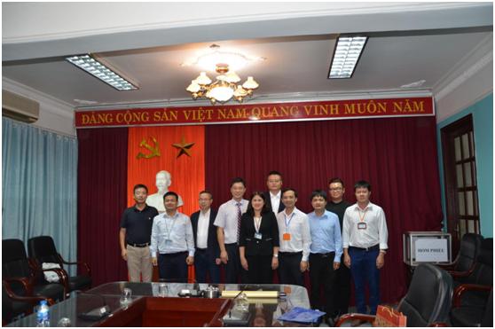 Tiếp và làm việc với Viện hợp tác quốc tế và viện Tài nguyên địa chất trường Đại học Địa chất Trung Quốc (Vũ Hán)